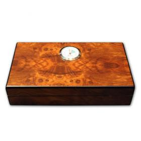 Simply Cigars Mini Dark Burl Humidor - 10 Cigars